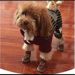 🐶2/$25 DOG Brown coffee boots Size 8